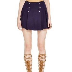 Free People Lovers Lane Mini Skirt Pleated Detail